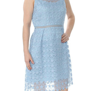MAISON JULES Women's French Blue Star Lace Dress